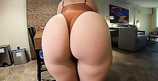 Big Ass in Lingerie Bends Over For Dick