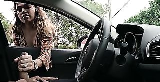 NICHE PARADE - Latina Giving Me Handjob Through My Car Window